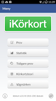 Screenshot of iKörkort