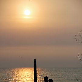 couple in love by 'Jagdish Dabade - People Couples ( love, silhouette, sunset, couple )