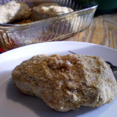 Sour Cream Parmesan Breaded Pork Chops