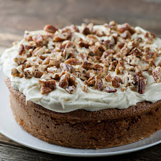 Banana Cake with Pecan Cream Cheese Frosting
