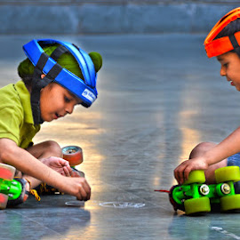 Top level Planning by Vinod Chauhan - Babies & Children Children Candids ( lights, playing, planning, skating, kids, baby photography )