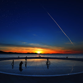 When the dream and day unite  by Davor Strenja - City,  Street & Park  Street Scenes ( sky, blue, stars, croatia, sea, zadar, sun )