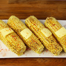 Spicy Oven Roasted Corn On The Cob