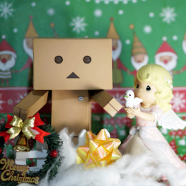 Danbo and the peace angel celebrating Christmas by Alice Chia - Artistic Objects Toys (  )