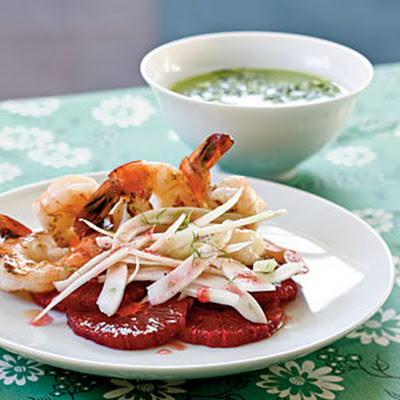 Shrimp Salad with Blood Oranges and Slivered Fennel