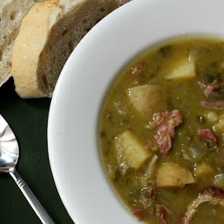 Split Pea, Potato, Ham and Leek Soup in the Crockpot