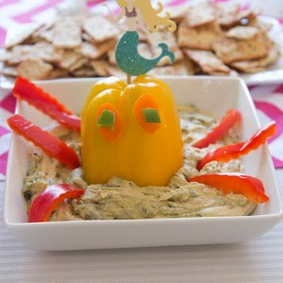 Octopus Edamame Hummus (for party)