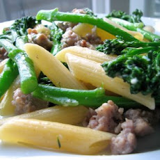 Penne with Spicy Sausage and Broccolini