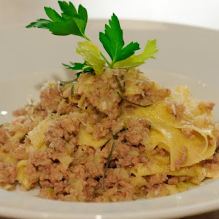 Silk Handkerchief Pasta with White Bolognese