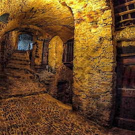 Prisons by Roberta Sala - City,  Street & Park  Street Scenes ( dolceacqua, hdr, street, street scene, italy, street photography )