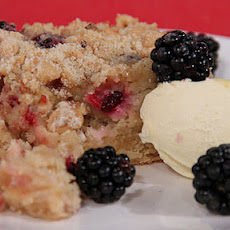 Apple And Blackberry Crumble Tray Bake