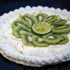 Kiwi Pavlova With Lime Zest Recipe