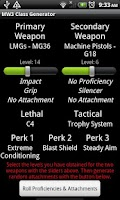 Screenshot of MW3 Random Class Generator