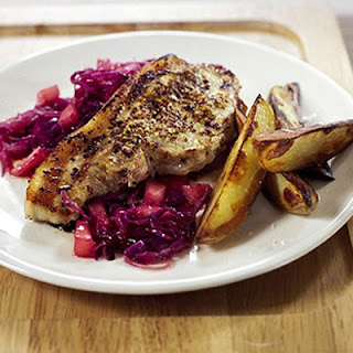 Pork Chops With Fruity Red Cabbage