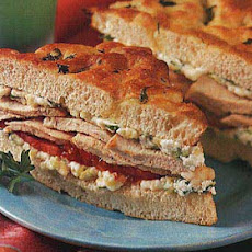 Roasted Chicken, Zucchini, and Ricotta Sandwiches on Focaccia
