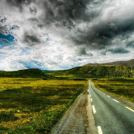 Prairie Road by Roy Friskilæ - Landscapes Prairies, Meadows & Fields ( hamningberg, friskila, hdr, finnmark, vardø, norway )