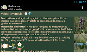 Screenshot of HerbIndex - herbal drugs