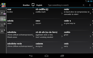Screenshot of Free Dict Brazilian English