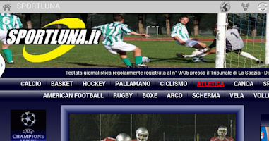 Screenshot of Italia newspapers