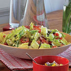 Greek-Style Bread Salad with Creamy Lemon-Caper Dressing