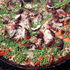 Grilled Lobster Paella