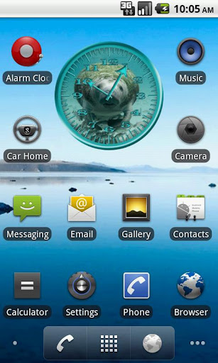 Manatee 2 Analog Clock