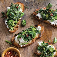 Spicy Broccoli Rabe Bruschetta