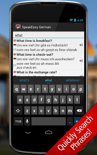 SpeakEasy German ~ Phrasebook - screenshot