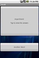 Screenshot of GRE Vocabulary with WIDGET