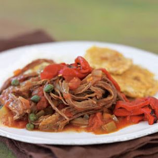 Ropa Vieja with Fried Plantains