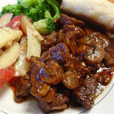 Sirloin Tips and Mushrooms
