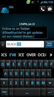 Screenshot of GO Keyboard Black ICS