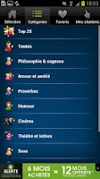 Screenshot of Proverbes & Citations