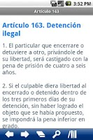 Screenshot of Spanish Penal Code