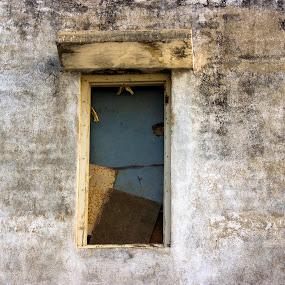 window by Nirav Raval - City,  Street & Park  Street Scenes ( old wall, one window, window, texture, old window )