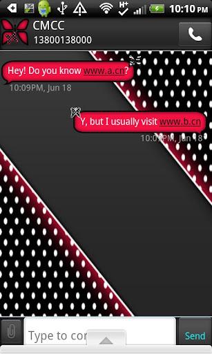 GO SMS THEME RedPolkaDot