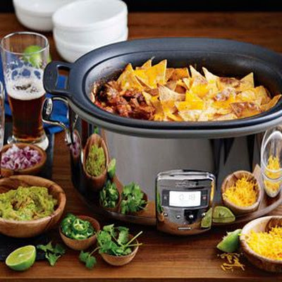 Smoky Beef Chili with Tortilla Chip Crust