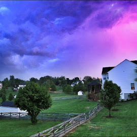 Lightning storm taken from my front porch by Tammy Hardy - Landscapes Weather