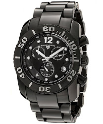 Swiss Legend Men's Commander White Diamond (0.144 ctw) Chronograph Black High Grade Ceramic SL-10127-BKBD Watch