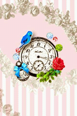 Girl's collection clockWidget