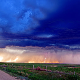 Supercell afternoon by Dan Berry - Landscapes Prairies, Meadows & Fields (  )