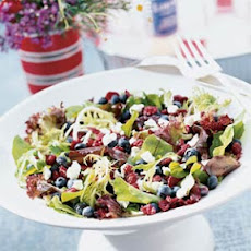 Greens with Chèvre and Berries