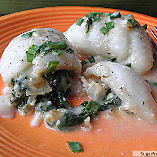 Spinach & Cheese Baked Stuffed Flounder