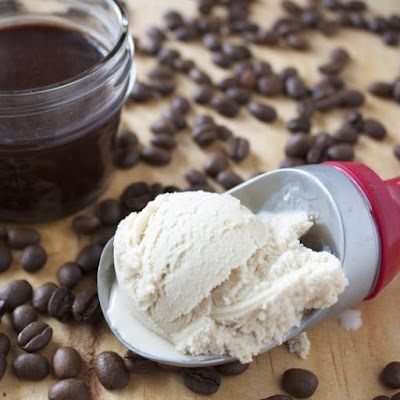 Coffee Ice Cream with Old-Fashioned Hot Fudge Sauce