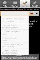 Screenshot of 4in1 Free - Prefix, Zip, Bank