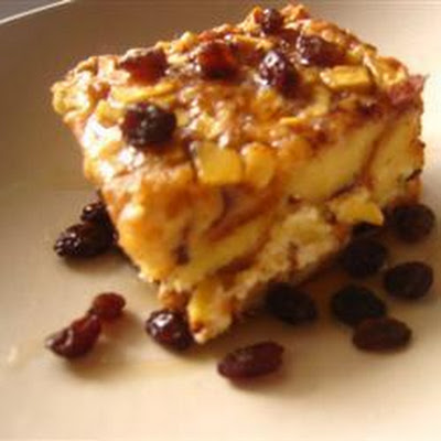 Apple Raisin Baked French Toast
