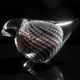 Crystal Bird by Linda Doerr - Artistic Objects Glass ( bird, glass, artistic object, crystal, feathers )