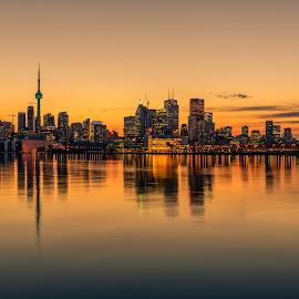 by Jose Marvin Evasco - City,  Street & Park  Skylines ( urban, skyline, building, toronto, lifestyle, lake, long exposure, ontario, architecture, cityscape, landscape, city )