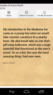 Quotes of Aaron Ruell - screenshot