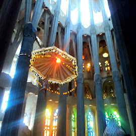 Colourful Sagrada Familia by Steve Williams - Buildings & Architecture Places of Worship
